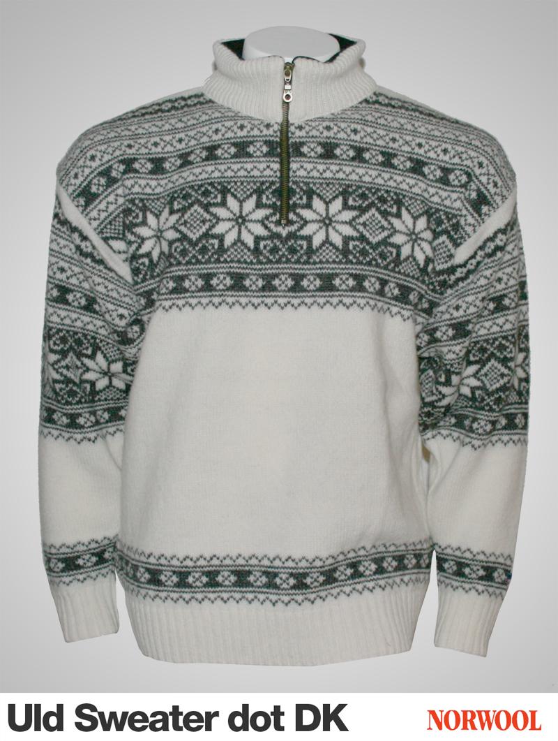 Norsk 100% ren uld sweater strikket med nordisk m?nster Norwool