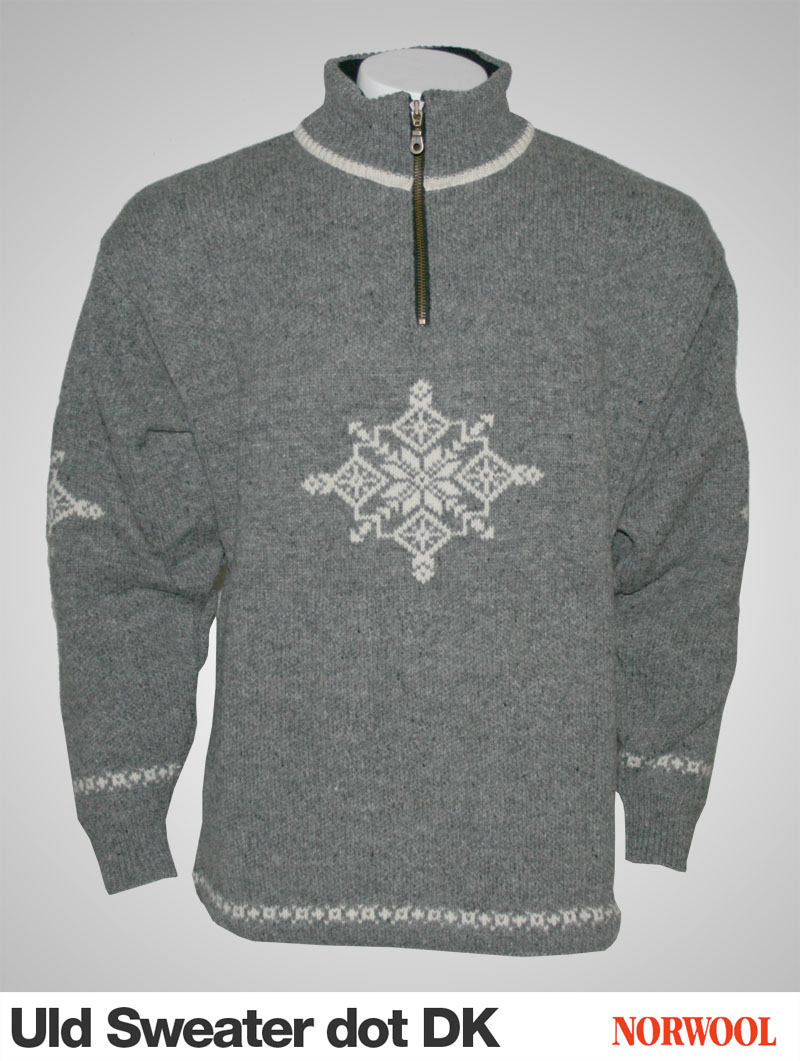Norwool sweater i 100% ren ny uld i klassisk design